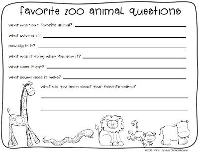 NEW 8 ZOO ANIMAL WORKSHEETS FIRST GRADE   zoo worksheet