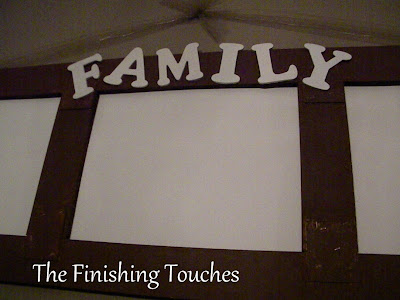 frame, family, trash, treasure, letters
