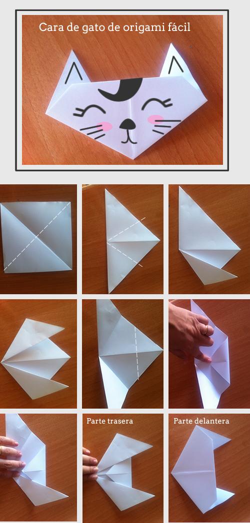 Como hacer un gato de origami