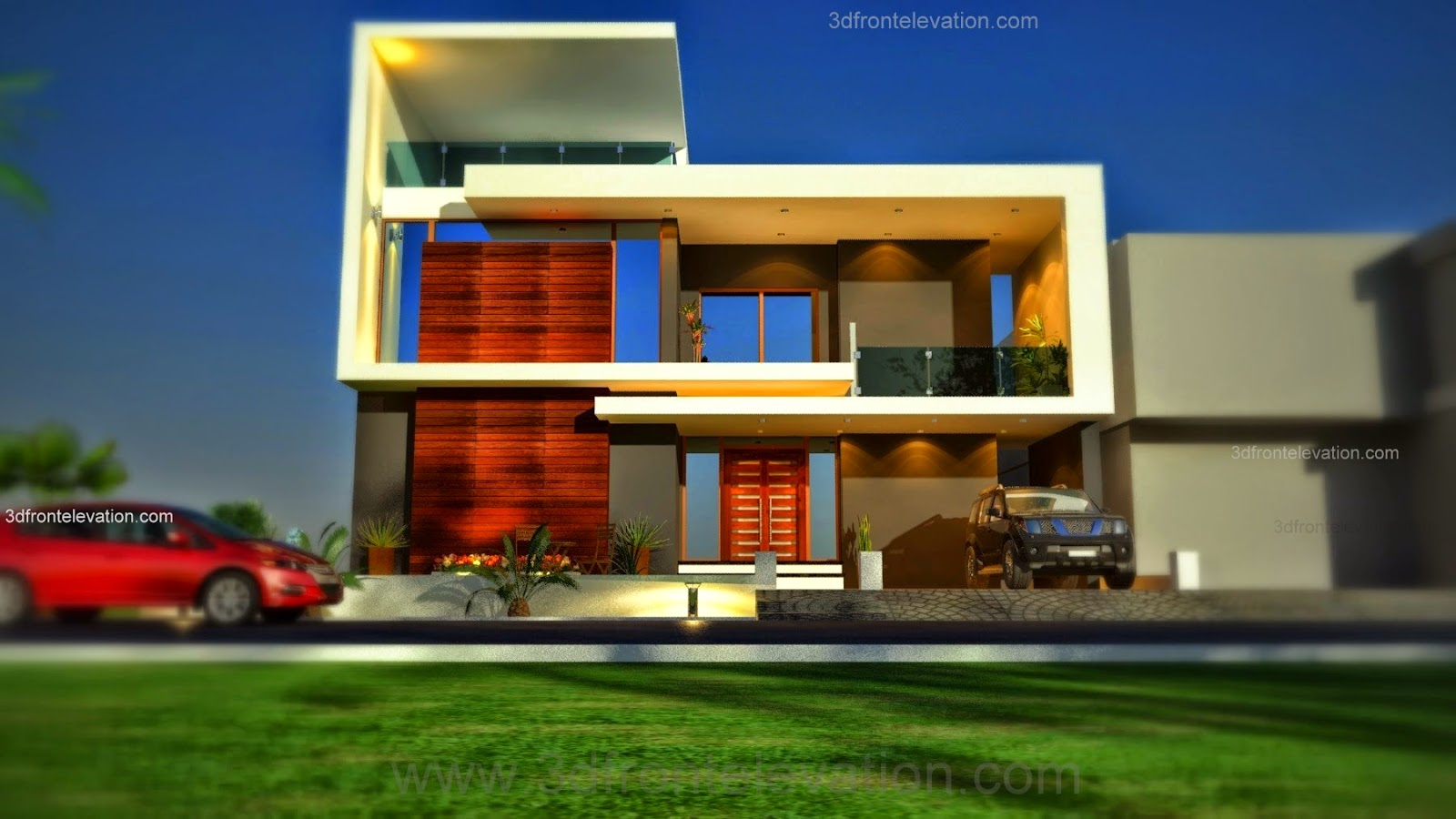 3d front beautiful pakistani 1 kanal modern for Design my house