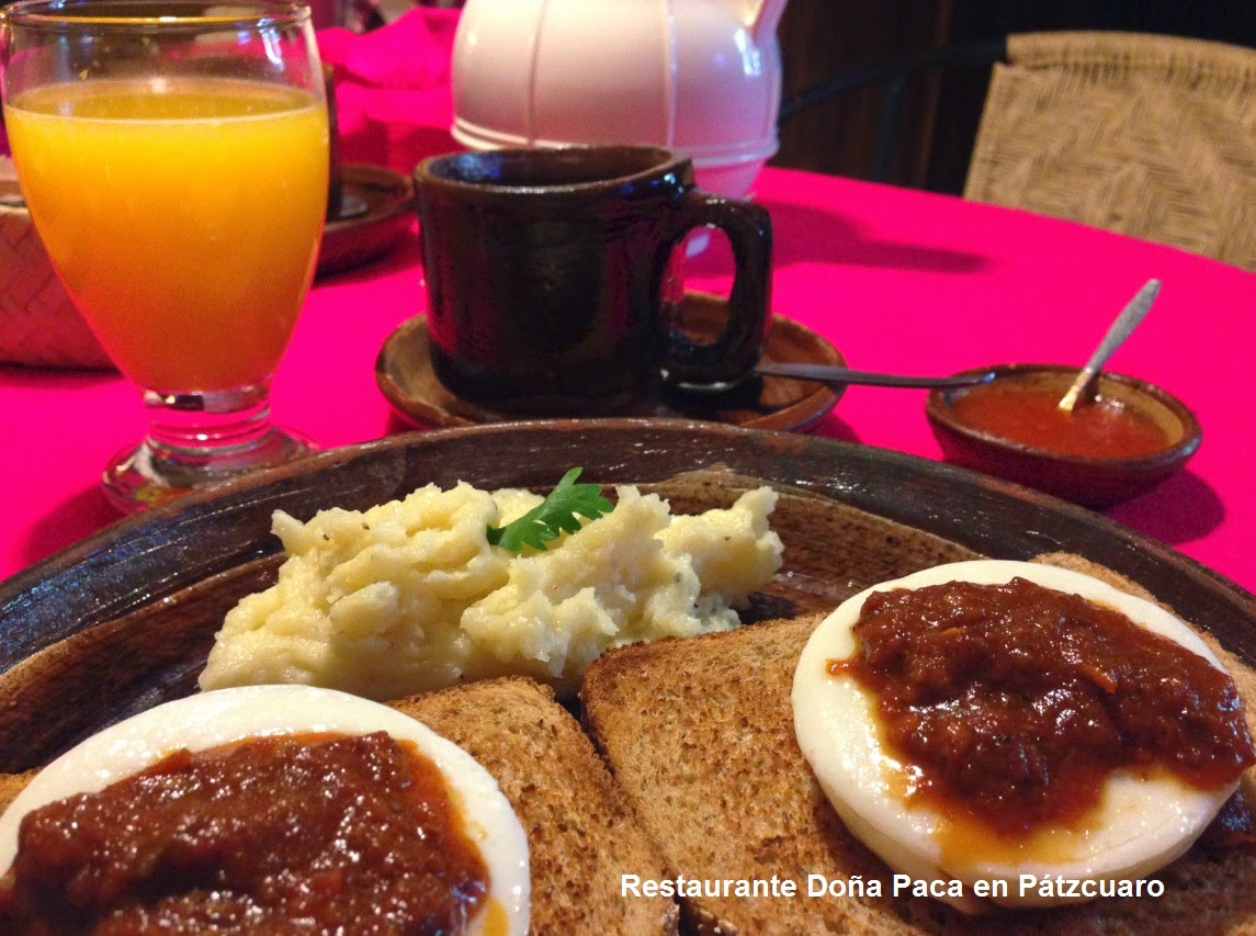 Enjoy breakfast in Pátzcuaro at Doña Paca Restaurant