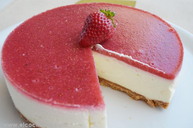 Tarta de fresa y queso