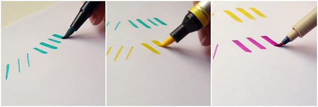 Comparación rotuladores Brush pen