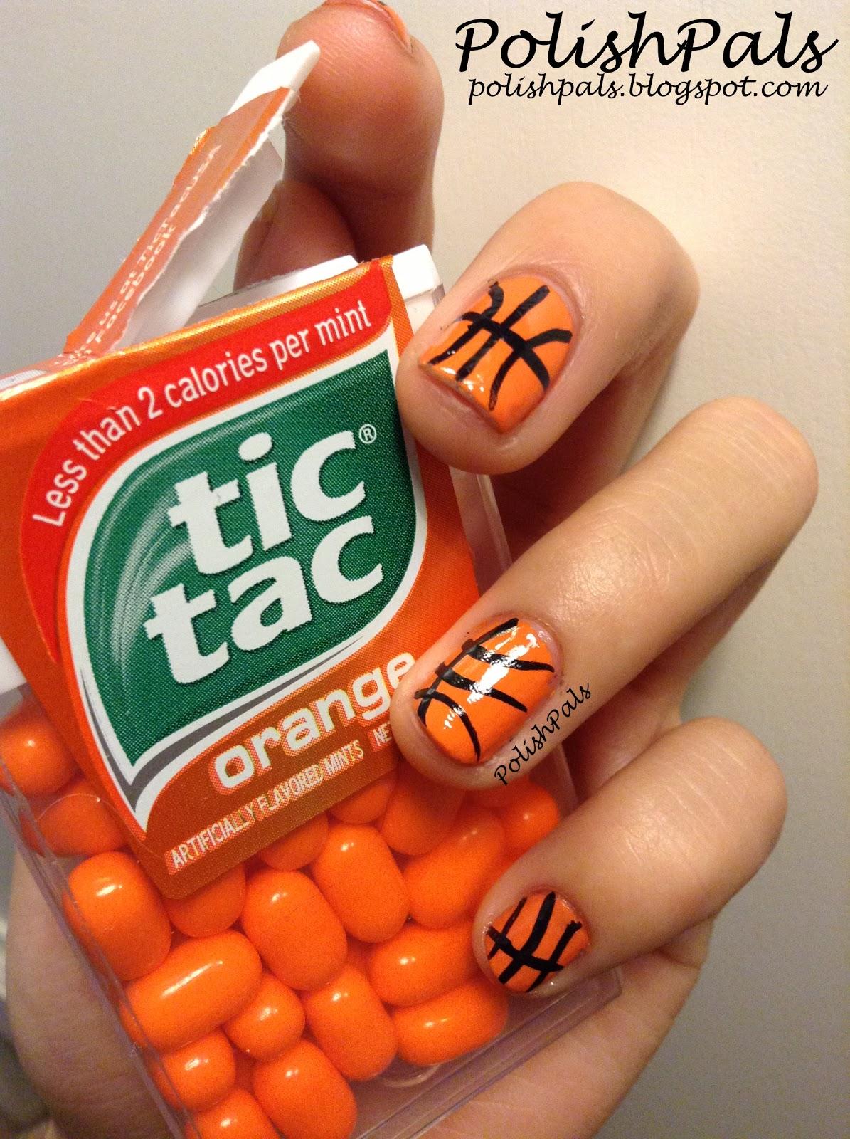 Basketball Nails - Polish Pals: Basketball Nails Tutorial