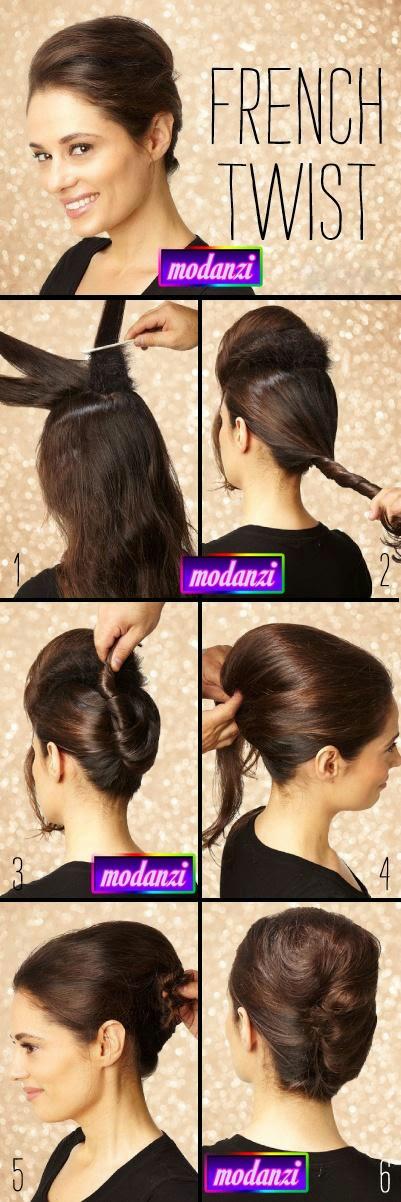 Fransız Dalgalı Topuz Saç Modeli Nasıl Yapılır ? ( Resimli Anlatım )