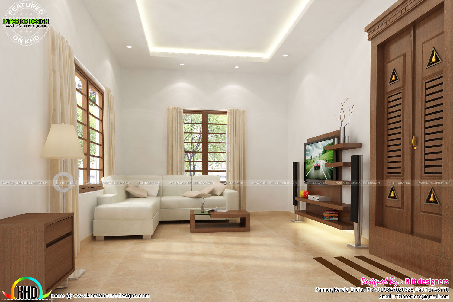House interiors by r it designers kerala home design and for Kerala interior designs