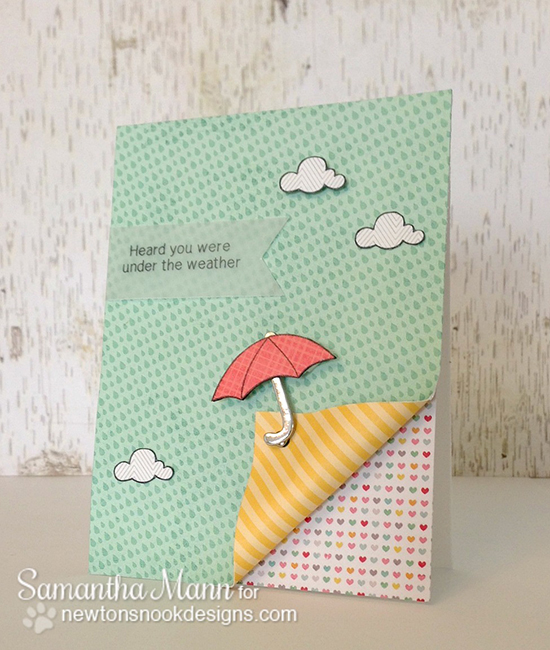 Under the Weather card by Samantha Mann | Newton's Nook Designs