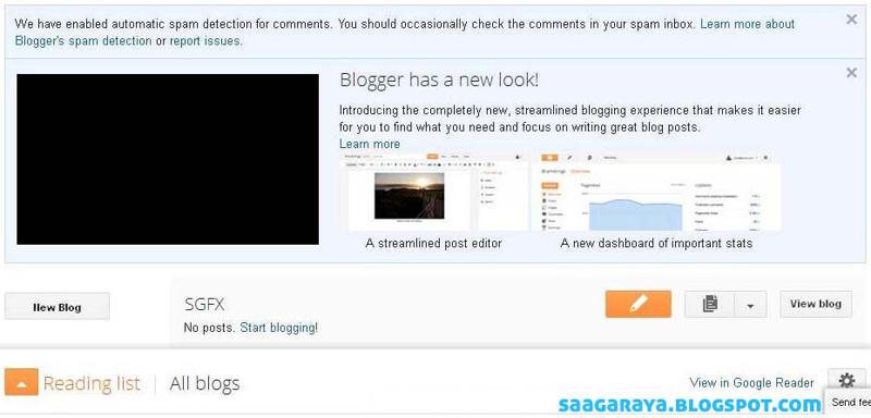New Blogger Interface