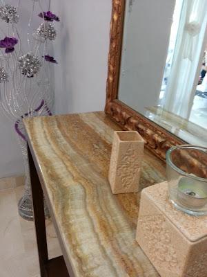 Marmer Travertine Onyx Untuk Desain Top Table