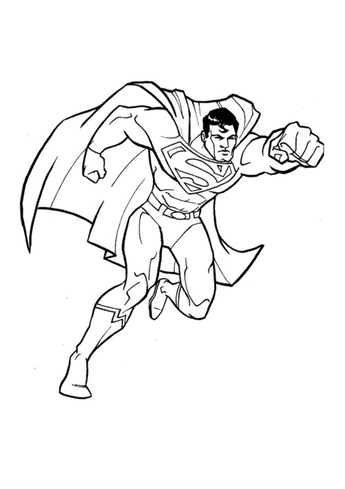 Comprehensive image with superman printable coloring pages
