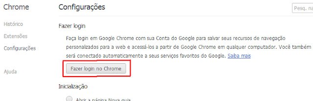 Fazer login no Chrome 2