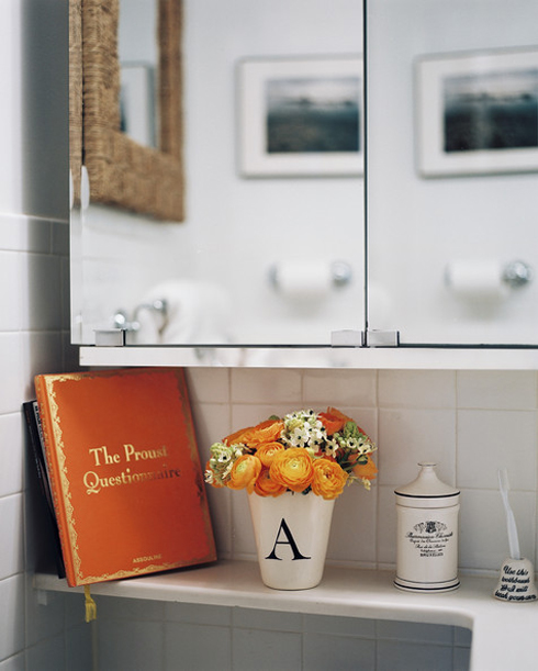 Design ways to decorate a powder room made by girl for Bathroom designs book