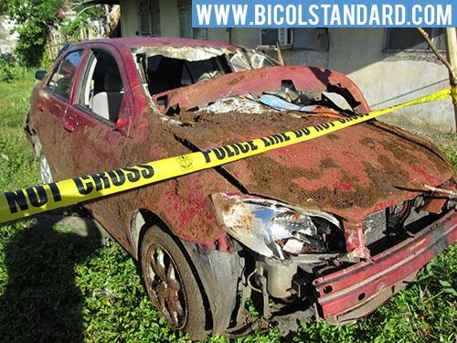 BICOL STANDARD: Kotse na nakua sa Calabanga, Camarines Sur