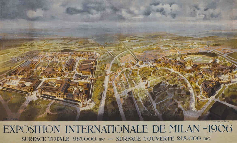 Milanoneisecoli la ferrovia sopraelevata di expo 1906 for Esposizione universale expo milano 2015