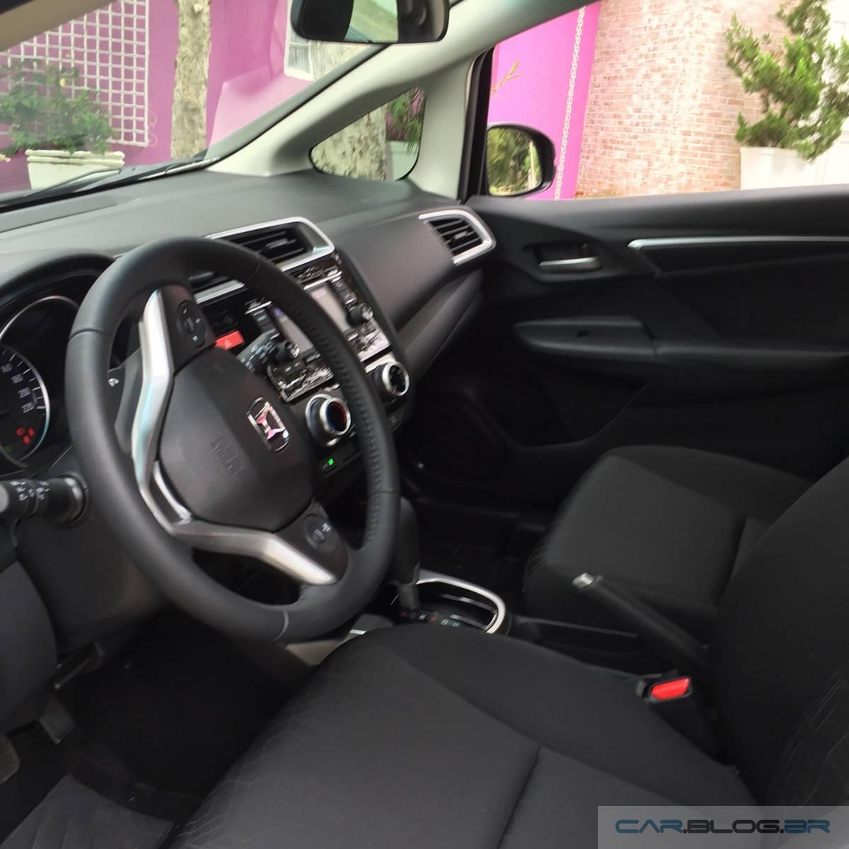 Honda FIT EX 2016 - teste de longa duração - interior