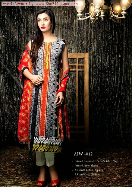 Amna Ismail Winter Semi-Stitched Collection 2014