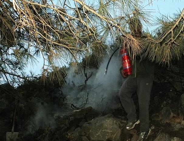 Λαθρομετανάστες έβαλαν φωτιά σε δασική περιοχή στην Σύμη για να τους δουν οι λιμενικοί
