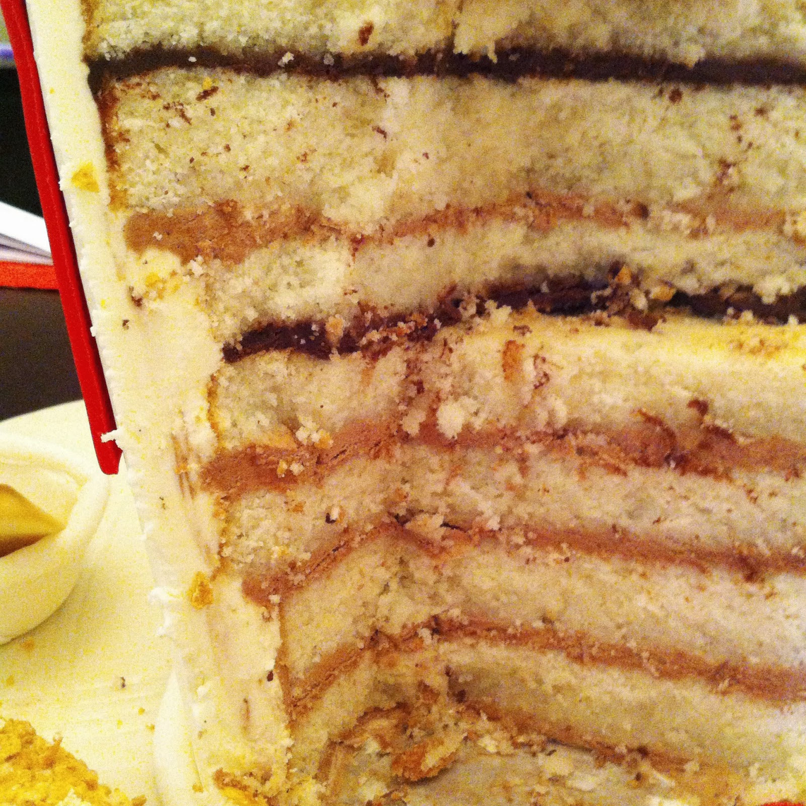 Inside shot of KFC cake