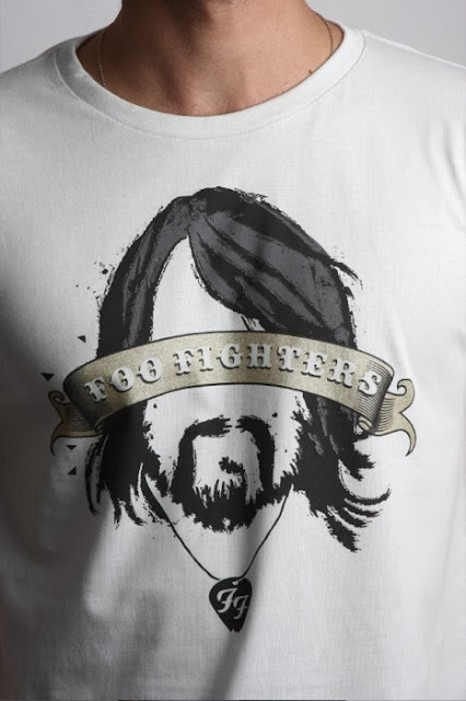 Camiseta de banda de rock Foo Fighters