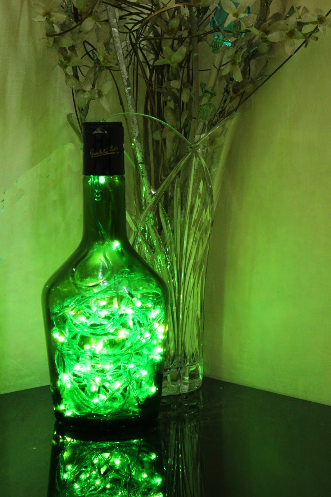 Guilty Bytes: Indian Fashion Blogger Style Blogger Beauty Blogger: DIY BOTTLE LAMP WITH ...