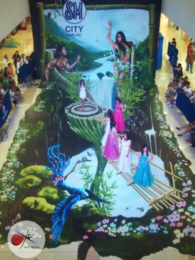3D Ground Art at Shopping Mall in Philippines