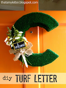 turf letter door decor