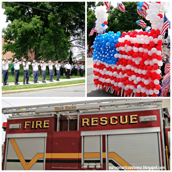 How to celebrate Memorial day in small town America - collage