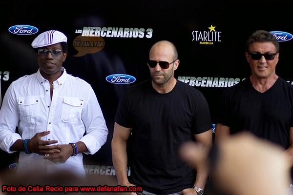 Wesley Snipes, Jason Stathan y Sylvester Stallone en Marbella