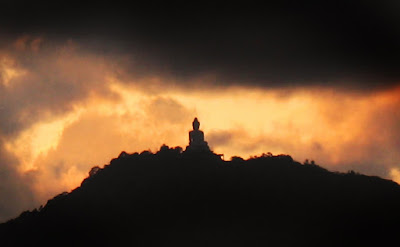 Sunset view over the Phuket Big Buddha 17th September 2011