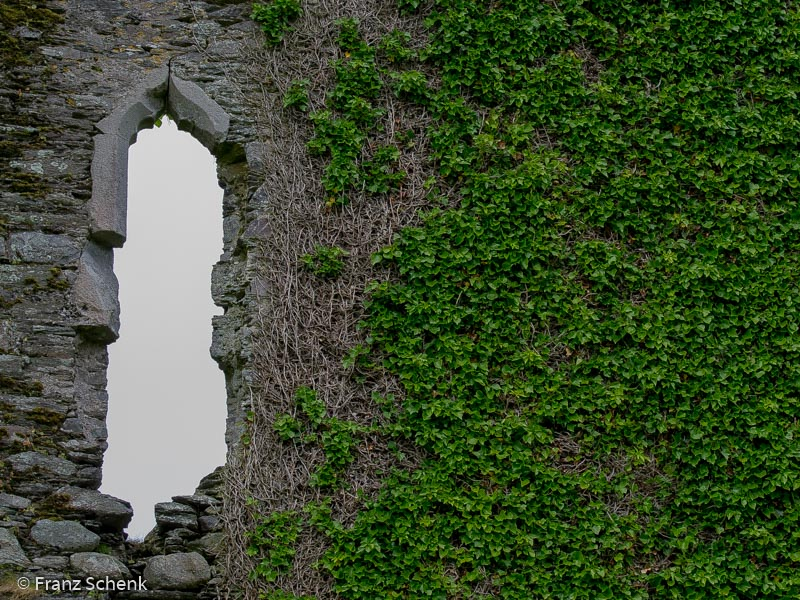 Window at Ballycarberry Castle, Over the Water, wild Atlantic Way