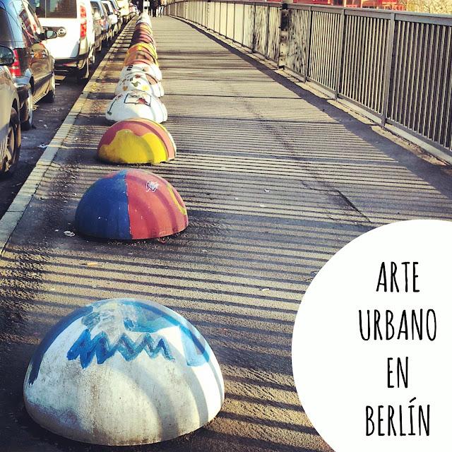 arte urbano en Berlín. Monumentenstrasse puente