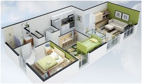 3d Home Plans For Free Small House And Apartment Plans