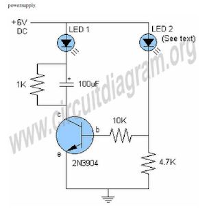 electrocircuits blogspot com  1 transister led flash and