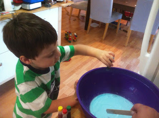 colored gak flubber slime