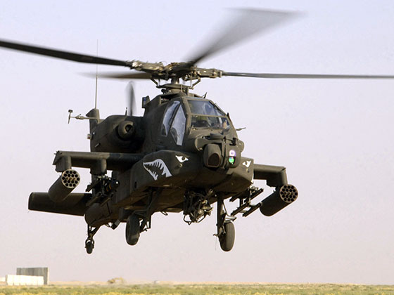 Military weapons: Apache Helicopter