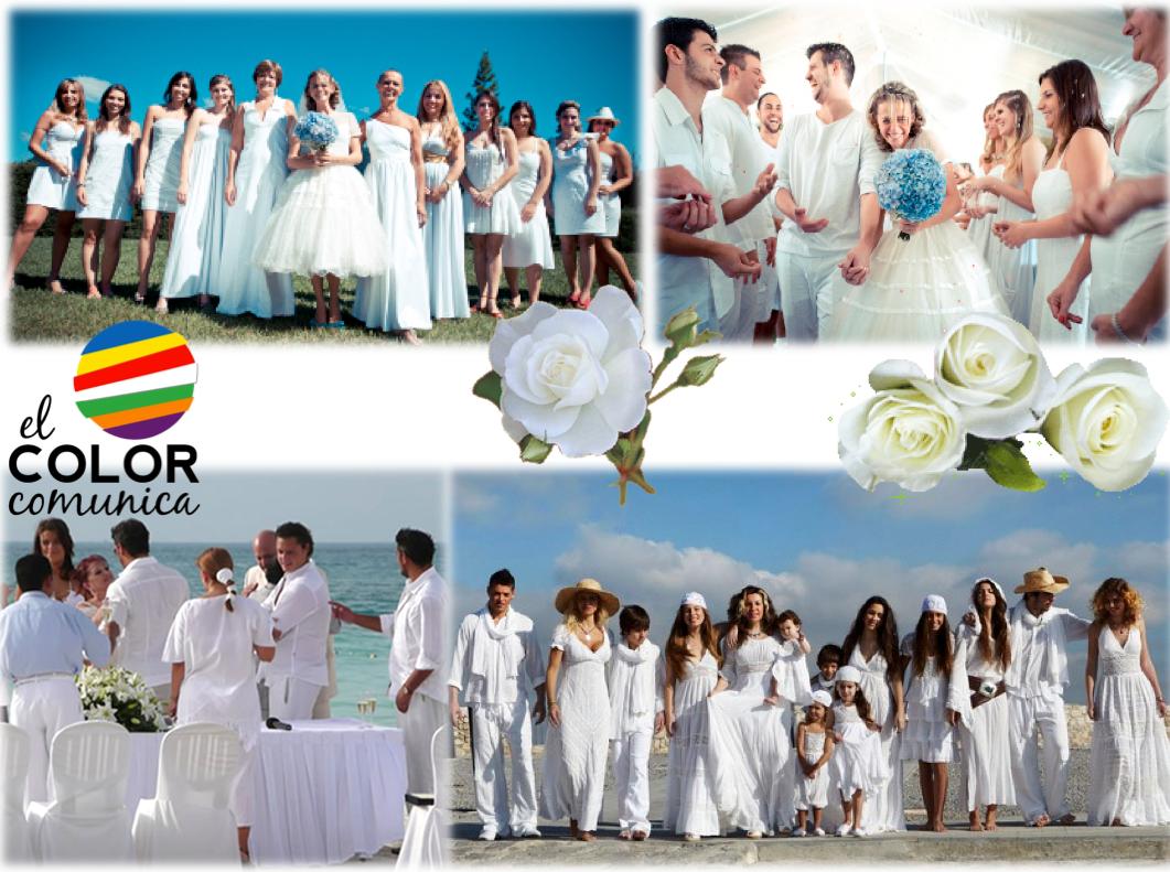 Hay celebraciones especiales en las cuales se les pide a los invitados que asistan todos vestidos de blanco. En ese caso, así se irá a la boda!