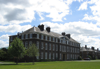 The main school building on a sunny day