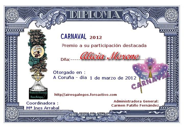 """Diploma """"Carnaval 2012"""""""