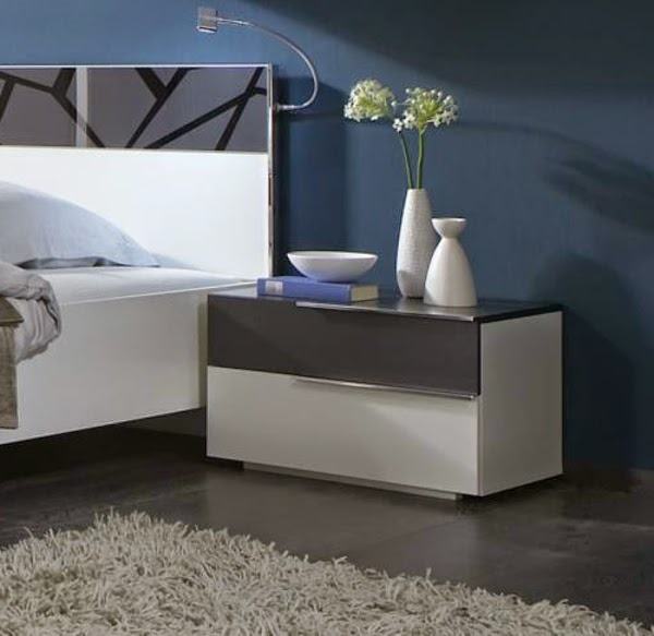 Modern white bedside table 10 designs and ideas for Table moderne design