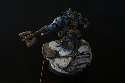 Logan Grimnar de los Lobos Espaciales de Warhammer 40000 vista superior