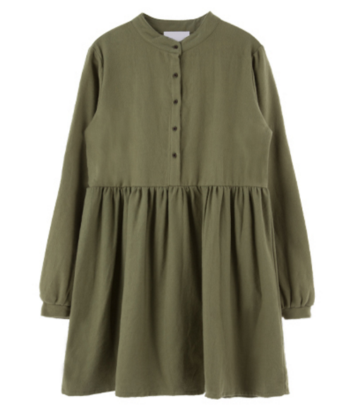 Mandarin Collar Loose Dress