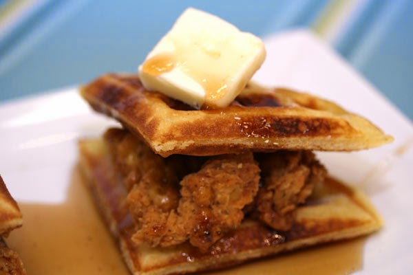 Chicken, Waffles, and Spicy Syrup