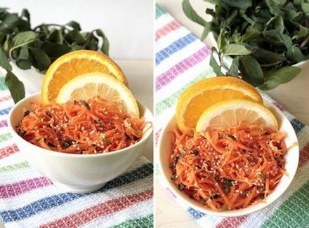 Салат из моркови с кунжутом