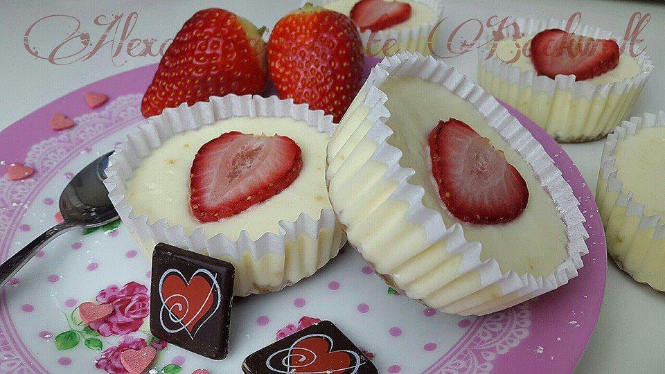Strawberry Cheesecake Muffin Valentinstag