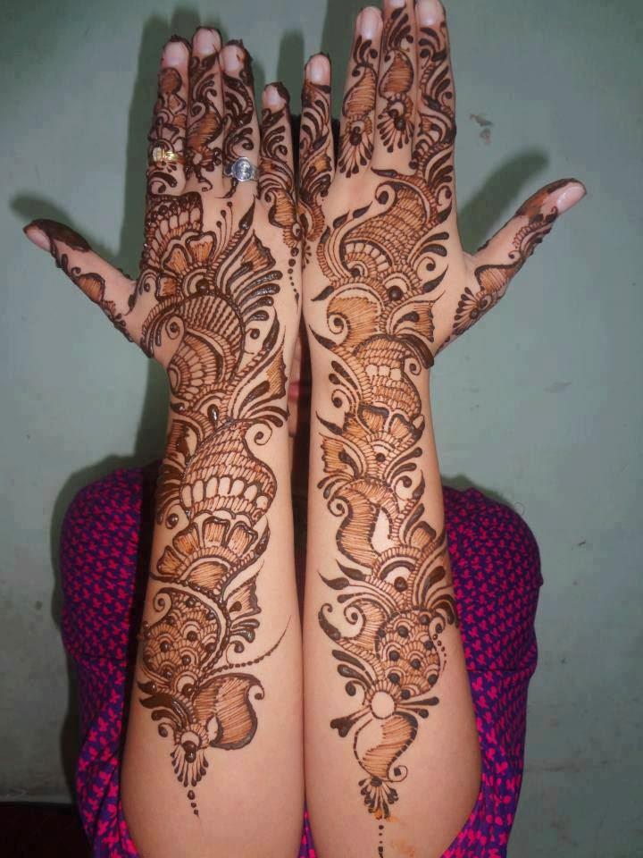 Mehndi Bridal Arabic Design : Beautiful latest simple arabic pakistani indian bridal
