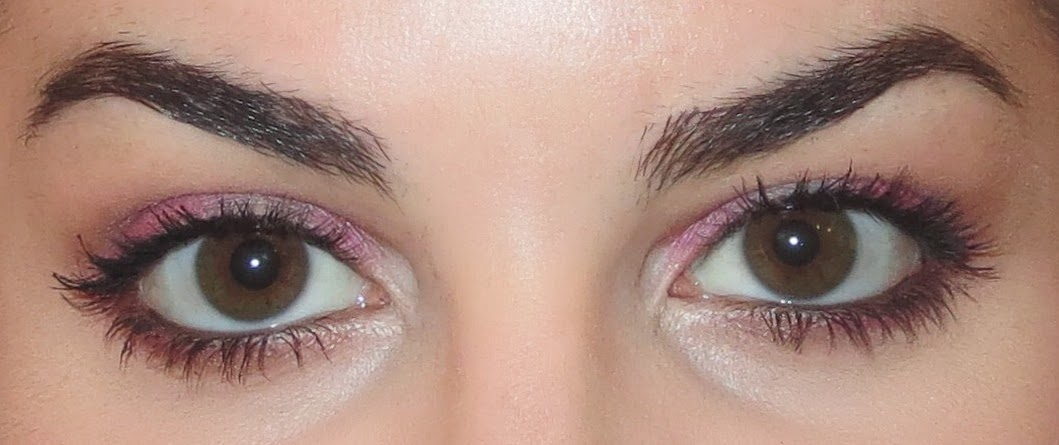 a picture of a pink makeup eyeshadow look using Too Faced Sugar Pop palette