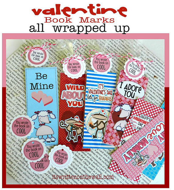Sugar-Free Treat-Bookmarks for Valentine's Day