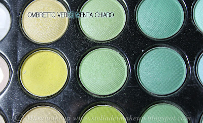 ombretto color verde menta chiaro