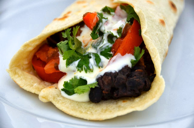 BEEF AND BLACK BEAN BURRITOS