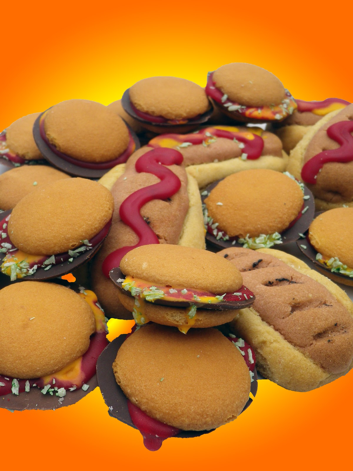 Within the Kitchen: Hamburger and Hot dog Cookies!